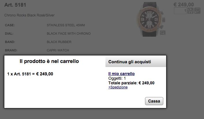 comprare capri watch