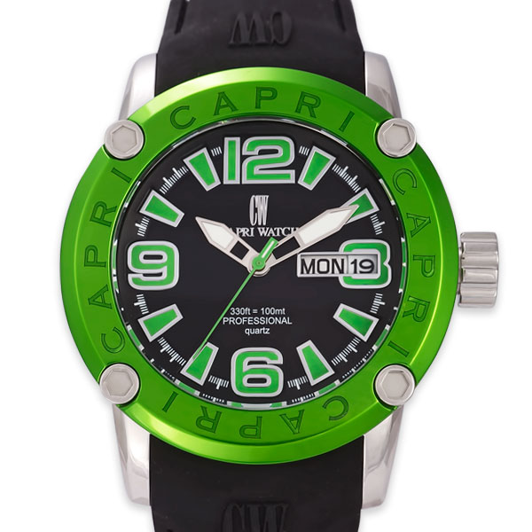 Watch Rocks Black/Green - capri watch uomo