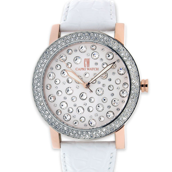 Watch White Multijoy 38MM White Strass
