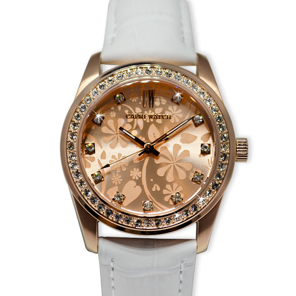 Watch Lady Flowers Gold Rosé
