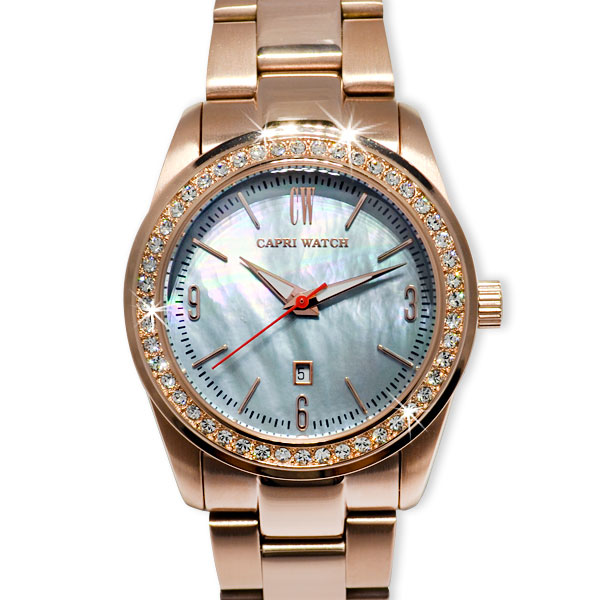 Watch Lady Date Allo Gold Rosé Blue