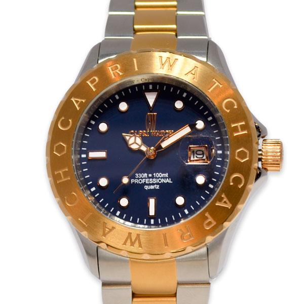 Watch Sub Stell and Gold Rose Blue