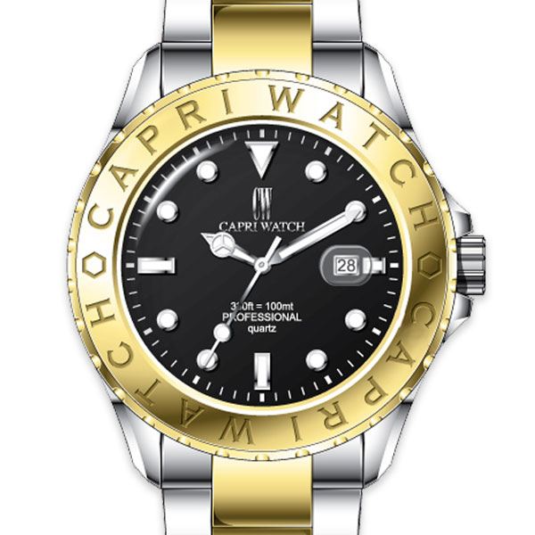Watch Sub All Steel Gold Black