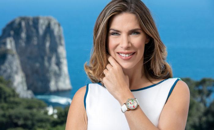 Capri Watch con testimonial Veronica Maya