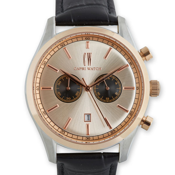 Chrono Sunray 43mm Rosè-Black Bimetal Leather